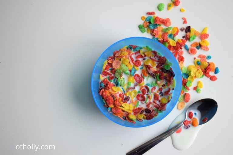 bowl of cereal for toddler with sensory issues
