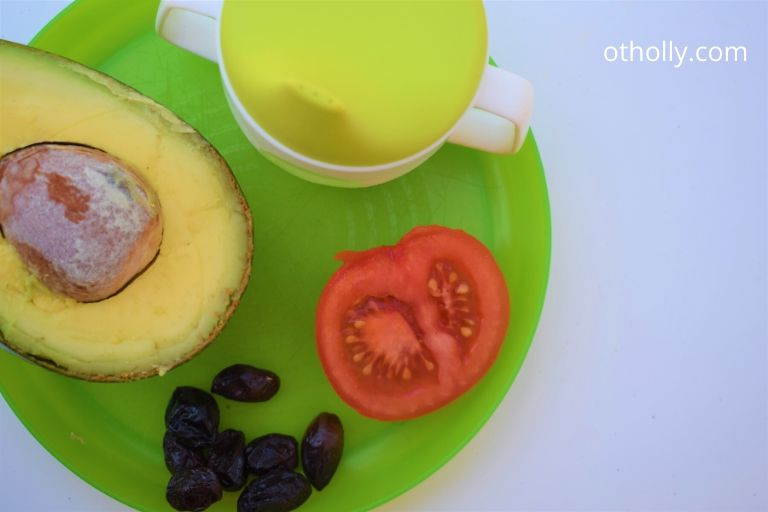 toddler plate and sippy cup with foods picky eaters don't always like