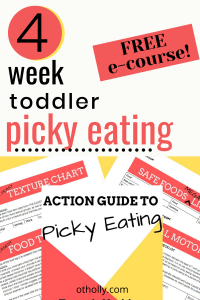 free ecourse pin for picky eater kids toddler meals