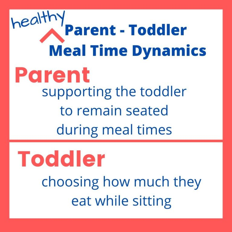 INFO GRAPHIC ON PARENT TODDLER MEAL TIME DYNAMICS