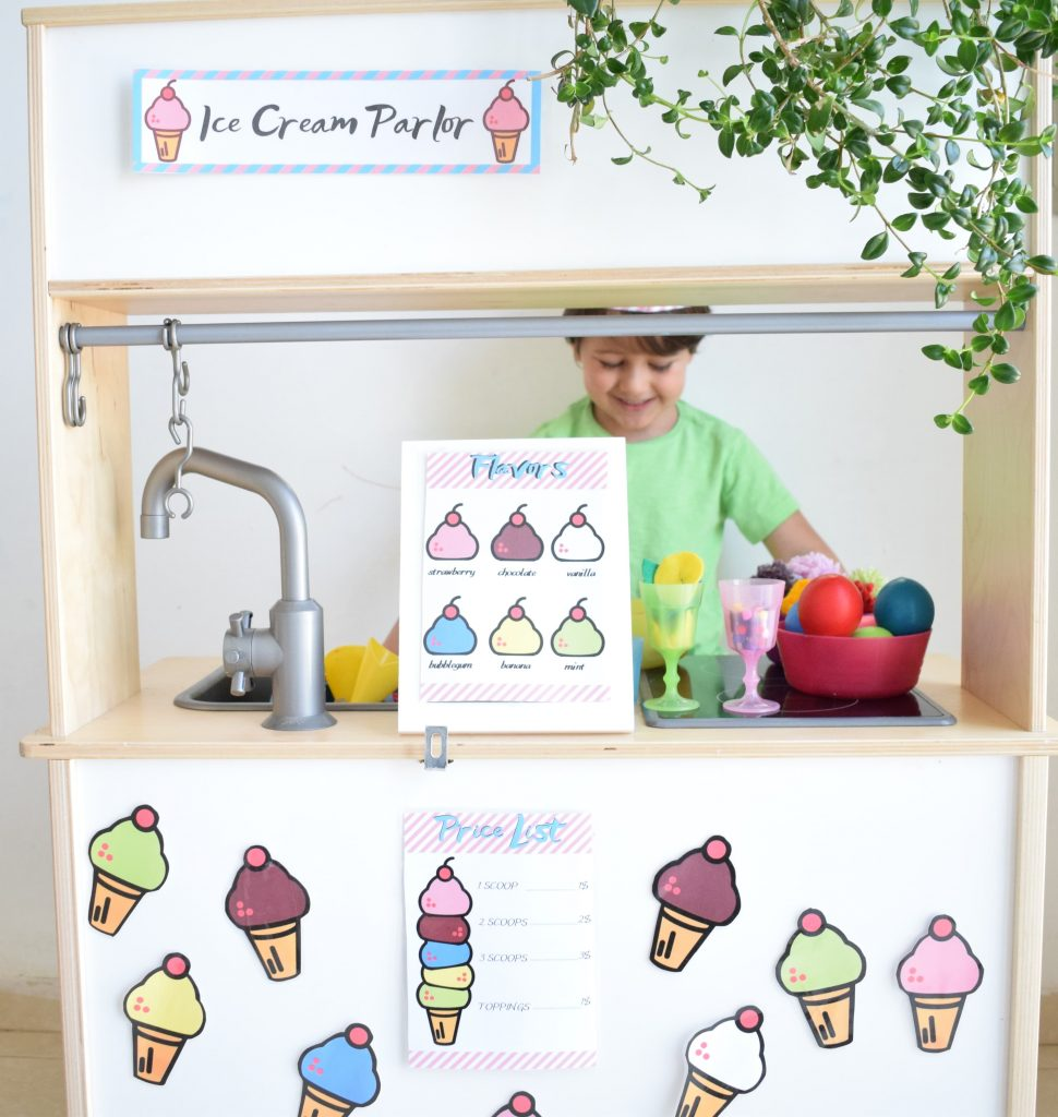 photo of the ice cream activity pack printables
