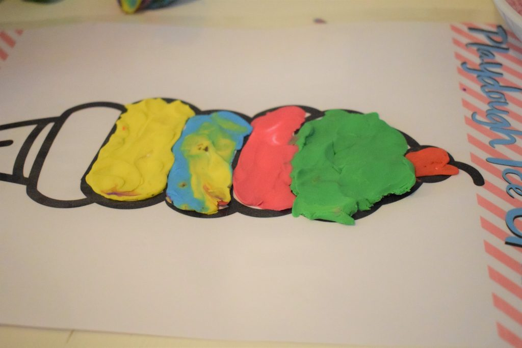 playdough ice cream printable activity