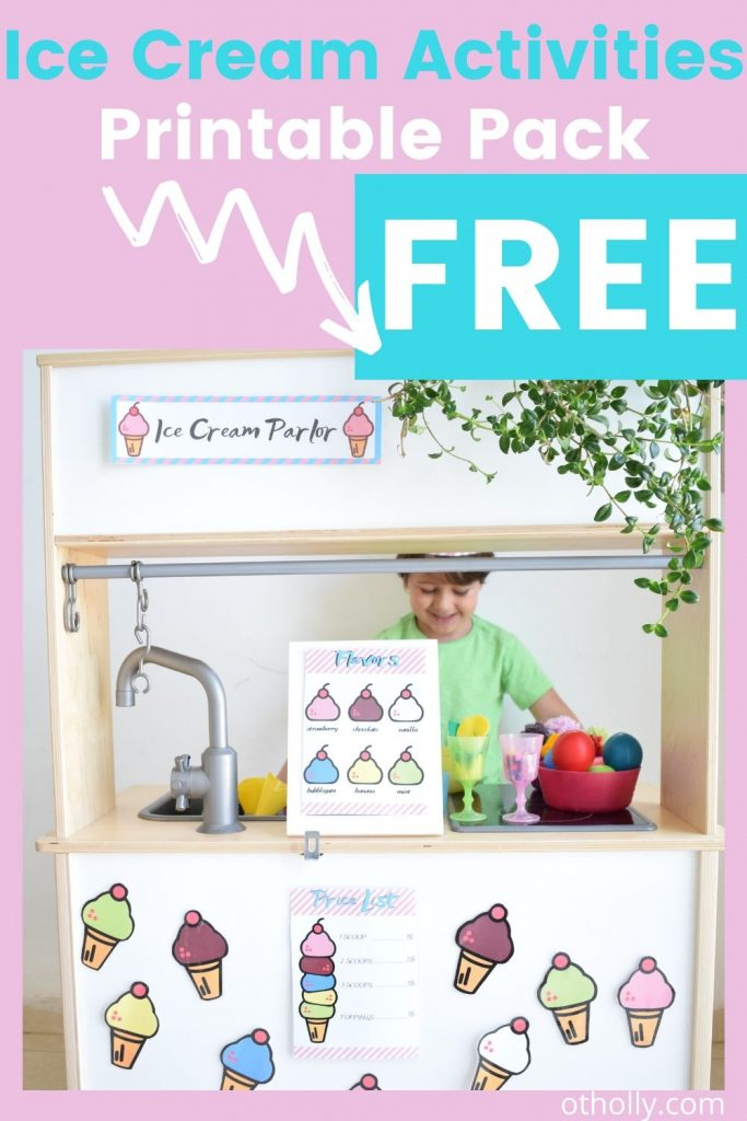 pin for toddler activities ice cream free printables