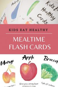 pin for kids eat healthy cards