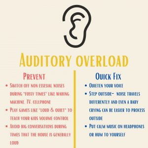 Ways for moms to prevent auditory sensory overload