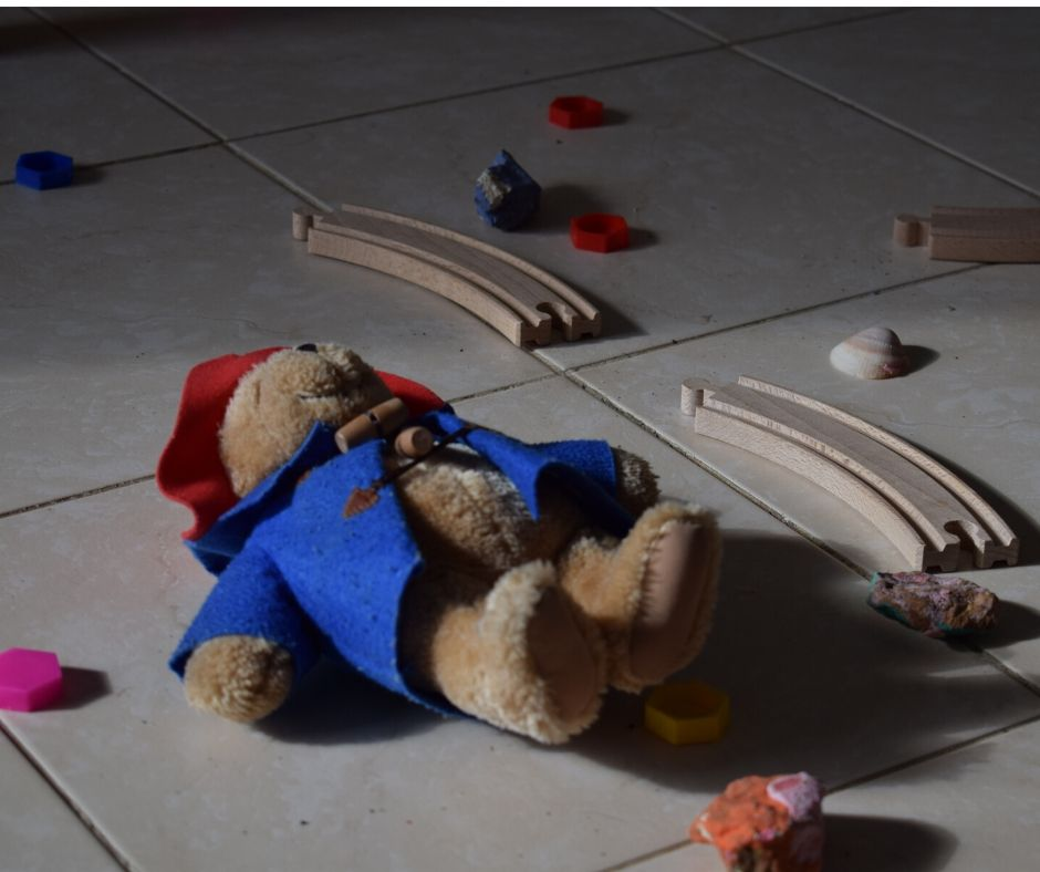 mess from toddler toys