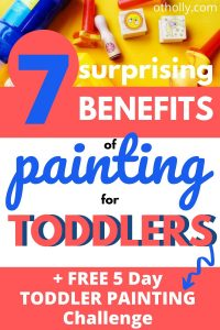 benefits of painting for toddlers pin