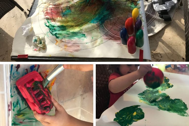 painting activities using finger paints
