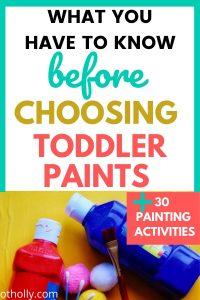toddler paints pin image