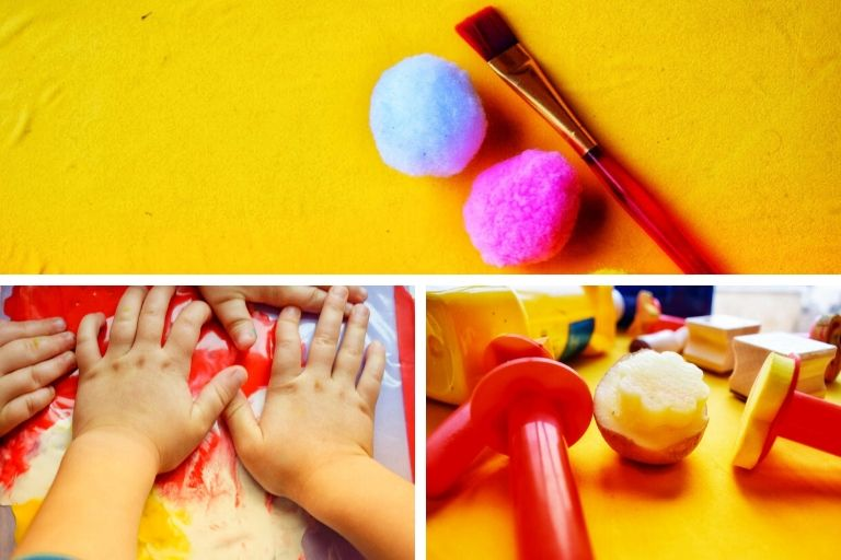 different types of paint brushes for toddlers